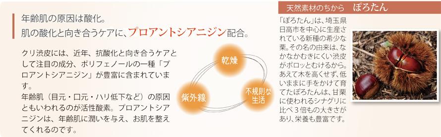 肌年齢の原因は酸化。肌の酸化と向き合うプロアントシアニジン配合