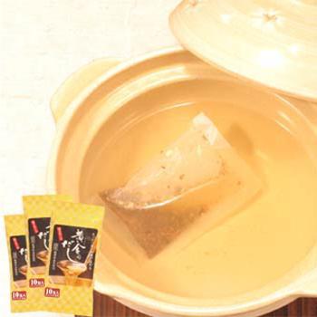 黄金のだし(昆布・鰹・鯖・椎茸) 10バッグ×3袋