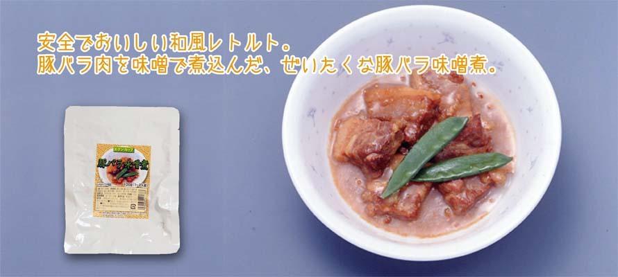 特売 豚バラ味噌煮 和風レトルト 100g×1袋