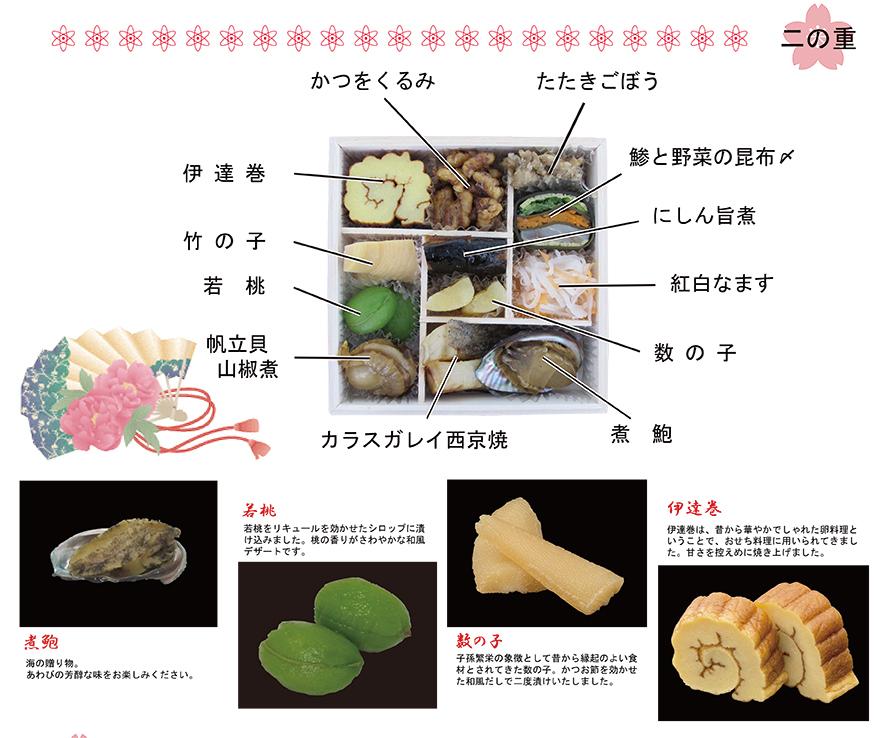 素材の味をいかした和洋三段重その2
