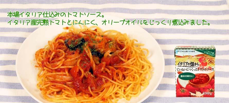 特価 イタリアの畑から ていねいにつくったトマトソース 390g×1個