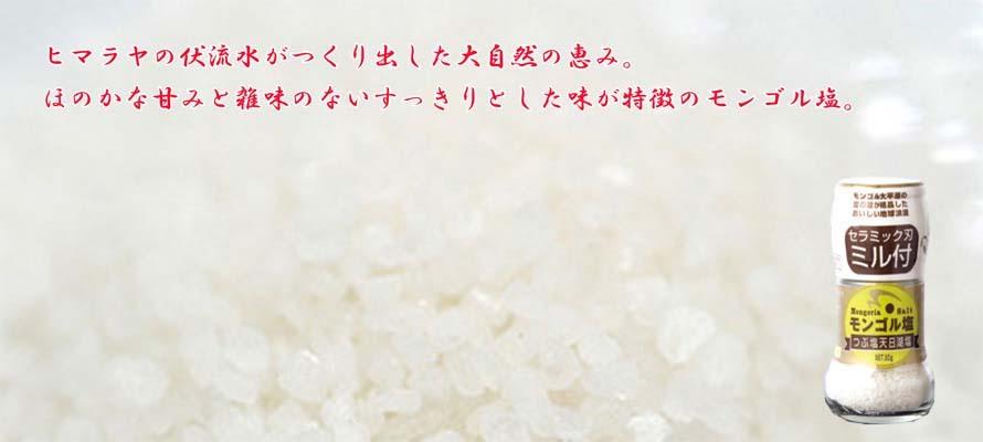 モンゴル塩(ミル付) 60g×1個
